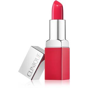 Clinique Pop Matte Lip Colour + Primer matná rtěnka + podkladová báze 2 v 1 odstín 12 Coral Pop 3,9 g