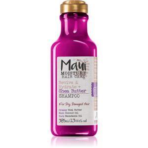 Maui Moisture Revive & Hydrate + Shea Butter hydratační a revitalizační šampon pro suché a poškozené vlasy 385 ml
