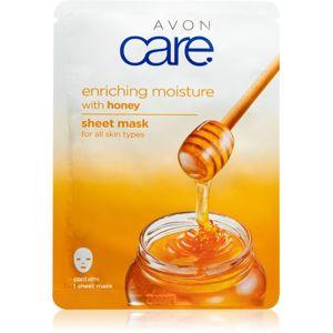 Avon Care plátýnková maska pro všechny typy pleti Honey 1 ks