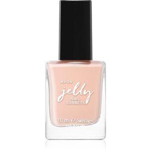 Avon Jelly dlouhotrvající lak na nehty odstín Coral Sorbet 10 ml
