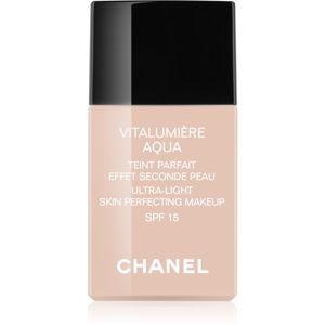 Chanel Vitalumière Aqua ultra lehký make-up pro zářivý vzhled pleti