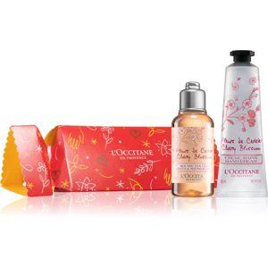 L'Occitane Cracker Cherry Blossom Care kosmetická sada pro hydratovanou pokožku