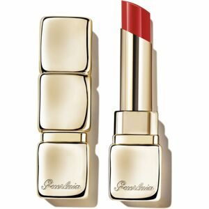 GUERLAIN KissKiss Shine Bloom lesklá rtěnka odstín 709 Petal Red 3,5 g