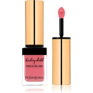 Yves Saint Laurent Baby Doll Kiss & Blush rtěnka na rty a tváře s matným efektem odstín 8 Pink Hédoniste 10 ml