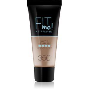 Maybelline Fit Me! Matte+Poreless matující make-up pro normální a mastnou pleť odstín 350 30 ml
