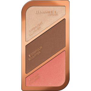 Rimmel Kate konturovací paletka odstín 003 Golden Bronze 18,5 g