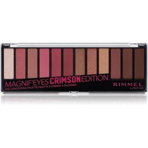 Rimmel Magnif' Eyes paleta očních stínů odstín Crimson Edition 14,16 g