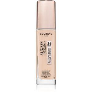 Bourjois Always Fabulous dlouhotrvající make-up SPF 20 odstín 100 Rose Ivory 30 ml