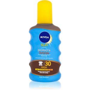 Nivea Sun Protect & Bronze suchý olej na opalování SPF 30 200 ml