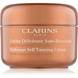 Clarins Sun Self-Tanners samoopalovací krém na tělo a obličej s kakaov
