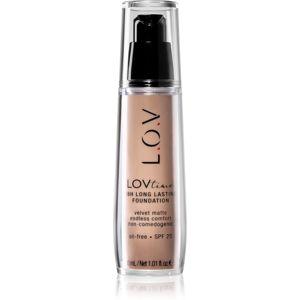 L.O.V. LOVtime dlouhotrvající make-up SPF 20 odstín 090 Deep Almond 30 ml
