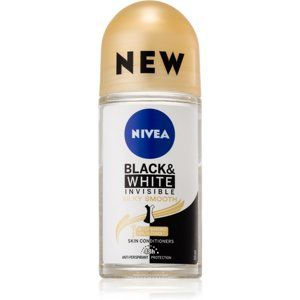 Nivea Invisible Black & White Silky Smooth kuličkový antiperspirant be