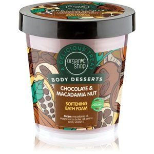 Organic Shop Body Desserts Chocolate & Macademia Nut zjemňující pěna do koupele