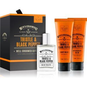 Scottish Fine Soaps Men's Grooming Thistle & Black Pepper dárková sada