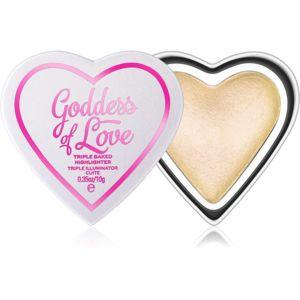 I Heart Revolution Goddess of Love rozjasňující pudr odstín Golden Goddess 10 g