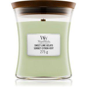 Woodwick Sweet Lime Gelato vonná svíčka 275 g s dřevěným knotem