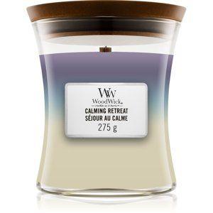 Woodwick Trilogy Calming Retreat vonná svíčka 275 g s dřevěným knotem