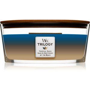 Woodwick Trilogy Nautical Escape vonná svíčka 453,6 g s dřevěným knote