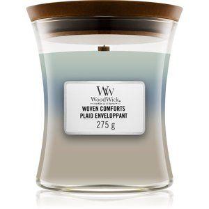 Woodwick Trilogy Woven Comforts vonná svíčka 275 g s dřevěným knotem