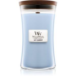 Woodwick Soft Chambray vonná svíčka 609,5 g velká