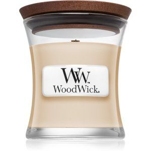Woodwick Vanilla Bean vonná svíčka 85 g s dřevěným knotem
