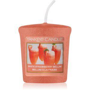 Yankee Candle White Strawberry Bellini votivní svíčka 49 g