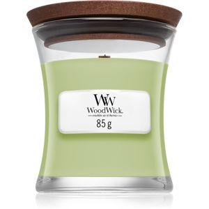Woodwick Fig Leaf & Tuberose vonná svíčka s dřevěným knotem 85 g