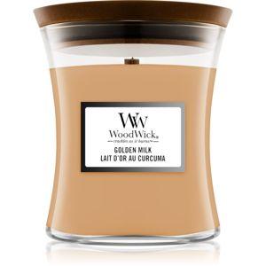 Woodwick Golden Milk vonná svíčka s dřevěným knotem 275 g