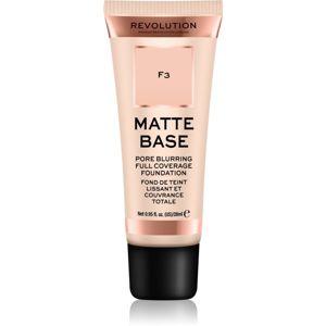 Makeup Revolution Matte Base krycí make-up odstín F3 28 ml