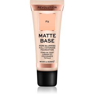 Makeup Revolution Matte Base krycí make-up odstín F5 28 ml