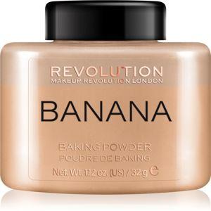 Makeup Revolution Baking Powder sypký pudr odstín Banana 32 g