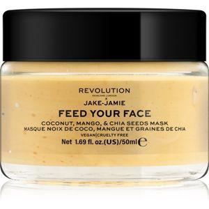 Revolution Skincare X Jake-Jamie Coconut, Mango & Chia Seed rozjasňující pleťová maska 50 ml
