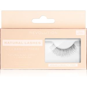 Makeup Revolution False Lashes Natural nalepovací řasy + lepidlo 1 ml NO.2 Barely There