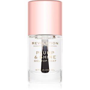 Makeup Revolution Plump & Shine lak na nehty s gelovým efektem průsvitný 10 ml