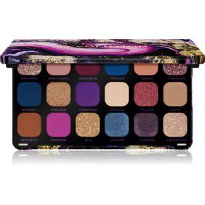 Makeup Revolution Forever Flawless paleta očních stínů odstín Utopia 18 x 1,1 g