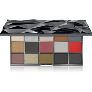 Makeup Revolution Glass Black Ice paleta očních stínů 16,5 g
