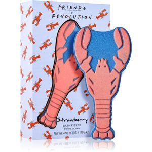Makeup Revolution X Friends koupelová bomba Lobster - Strawberry 140 g