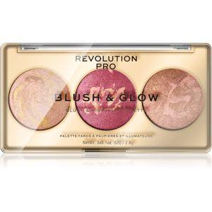 Revolution PRO Blush & Glow paletka pro celou tvář odstín Cranberry Glow 8,4 g
