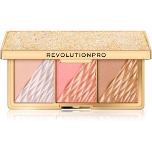 Revolution PRO Crystal Luxe paletka pro celou tvář odstín Peach Royale 8,4 g