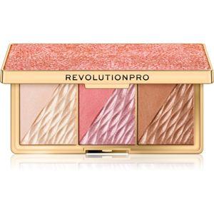 Revolution PRO Crystal Luxe paletka pro celou tvář odstín Rose Fresco 8,4 g