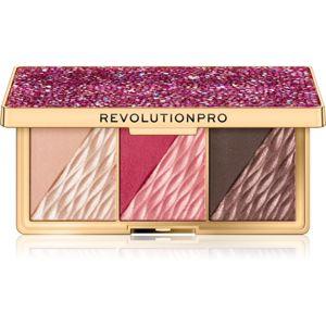 Revolution PRO Crystal Luxe paletka pro celou tvář odstín Berry Flush 8,4 g