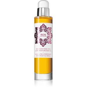 REN Moroccan Rose hydratační tělový olej s vůní růží 100 ml
