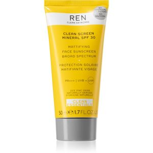 REN Clean Screen Mineral SPF 30 matující opalovací krém na obličej SPF 30 50 ml