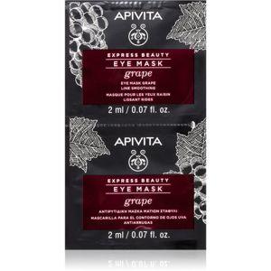 Apivita Express Beauty Grape oční maska s vyhlazujícím efektem 2 x 2 ml