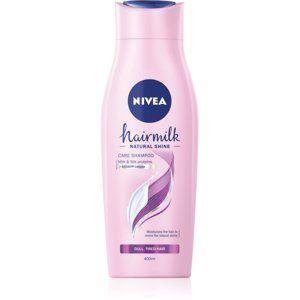 Nivea Hairmilk Natural Shine pečující šampon pro unavené vlasy bez lesku