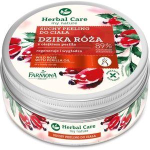 Farmona Herbal Care Wild Rose vyhlazující tělový peeling s regenerační