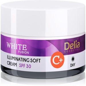Delia Cosmetics White Fusion C+ rozjasňující denní krém pro pleť s hyp