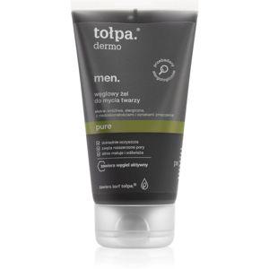 Tołpa Dermo Men Pure mycí gel na obličej s aktivním uhlím 150 ml