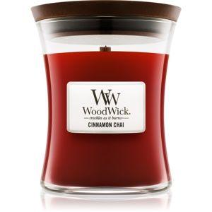 Woodwick Cinnamon Chai vonná svíčka 275 g střední