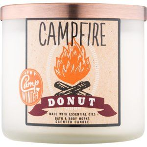 Bath & Body Works Camp Winter Campfire Donut vonná svíčka 411 g
